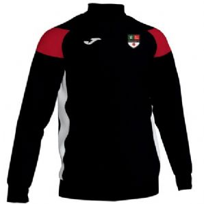 Donacloney FC Joma Crewe III 1/4 Zip Sweatshirt Black/Red/White Adults 2019